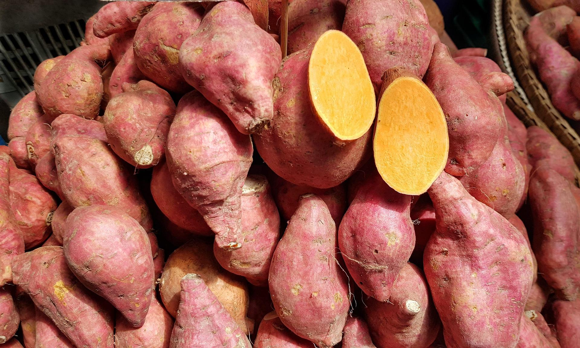 Curry van zoete aardappel en bloemkool